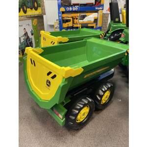 John Deere dviašė priekaba Rolly Toys Halfpipe trailer