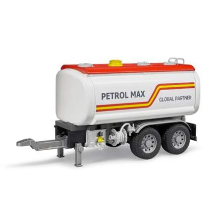 BRUDER LORRY TANKER TRAILER tankerio priekaba benzino priekaba, 03925