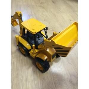 BRUDER Ekskavatorius - krautuvas JCB 4CX žaislinis mini traktorius su priekiniu ir galiniu kaušu, 02428
