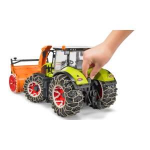 BRUDER traktorius Claas Axion 950 traktorius su sniego grandinėmis ir sniego pūstuvas, 03017