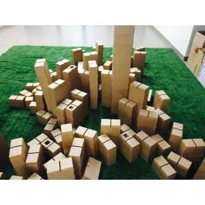 LINSKMOS Kartoninės plytos kartono kaladėlės blokai kartoninė plyta 60 vnt.