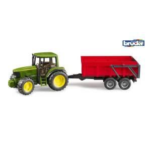 John Deere traktorius 6920 su priekaba