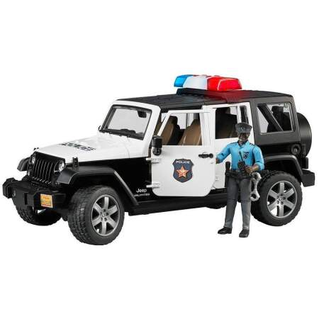 BRUDER policijos automobilis su policijos pareigūno figurėle, 02527