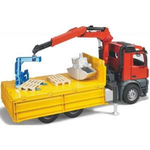 BRUDER sunkvežimis MB Arocs LKW su kraniniu keltuvu ir priedais, 03651