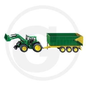 SIKU traktorius su frontaliniu krautuvu ir priekaba