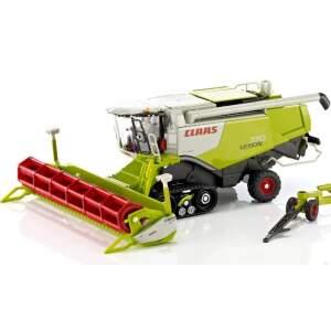 Kombainas SIKU CLAAS LEXION SIKU CLAAS LEXION with caterpillar tracks, with trailer for mower