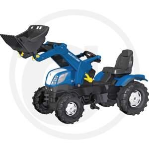 Minamas traktoriukas vaikams ROLLY TOYS NEW HOLLAND mit Trac Lader