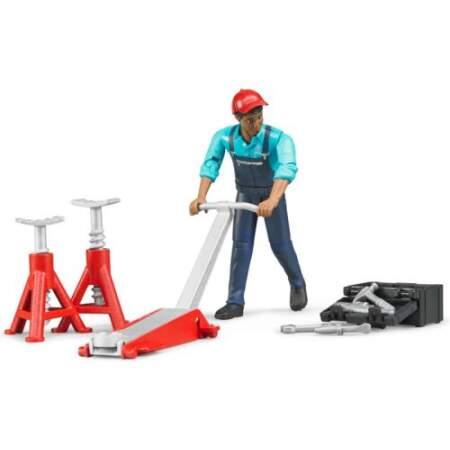 BRUDER mechanikas su garažo įranga., 62100