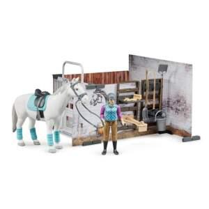BRUDER jojimo mokykla su žirgu, figūra ir aksesuarais, 62506