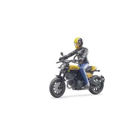 """BRUDER Motociklas su motociklininku """"Scrambler Ducati"""", 63053"""