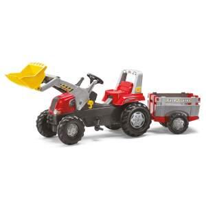 Traktoriukas su priekaba ir priekiniu kaušu Rolly toys nuo 3-8 m.