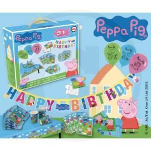 Peppa Pig - Peppa Pig - Vaikų XXL vakarėlių gimtadienio rinkinys - vakarėlių dėklas 51 dalis