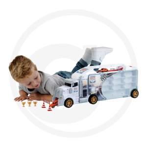 """Serviso automobilis """"Bosch Car Service"""" kolekcinis lagaminėlis - su integruota išvažiavimo rampa - su daiktadėžėmis iki 24 lengviesiems automobiliams ir 2 sunkvežimiams 1:64 skalėje (nepridedamas)"""
