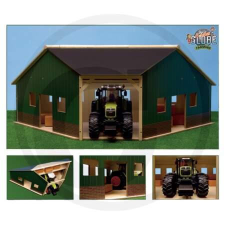 KIDS GLOBE TIMBER SHED traktoriui garažas vaikiškas