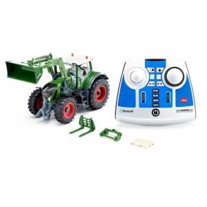 """Siku traktorius Fendt 933 Vario su frontaliniu krautuvu ir """"Bluetooth"""" programa su nuotoliniu distanciniu valdymu"""