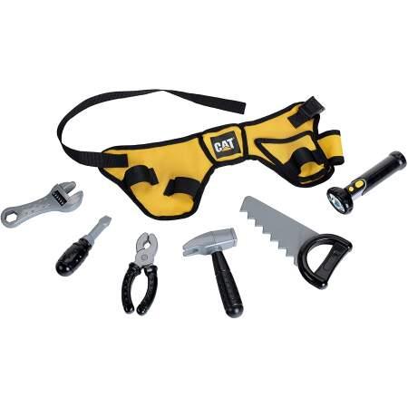Įrankių komplektas Klein 3222 CAT įrankių diržas su baterijomis valdomu žibintuvėliu, 7 dalių
