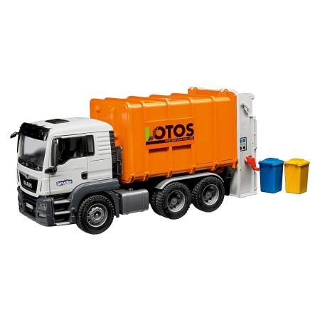 BRUDER MAN TGS Rear-Loading Garbage Truck šiukšlinė, 03762