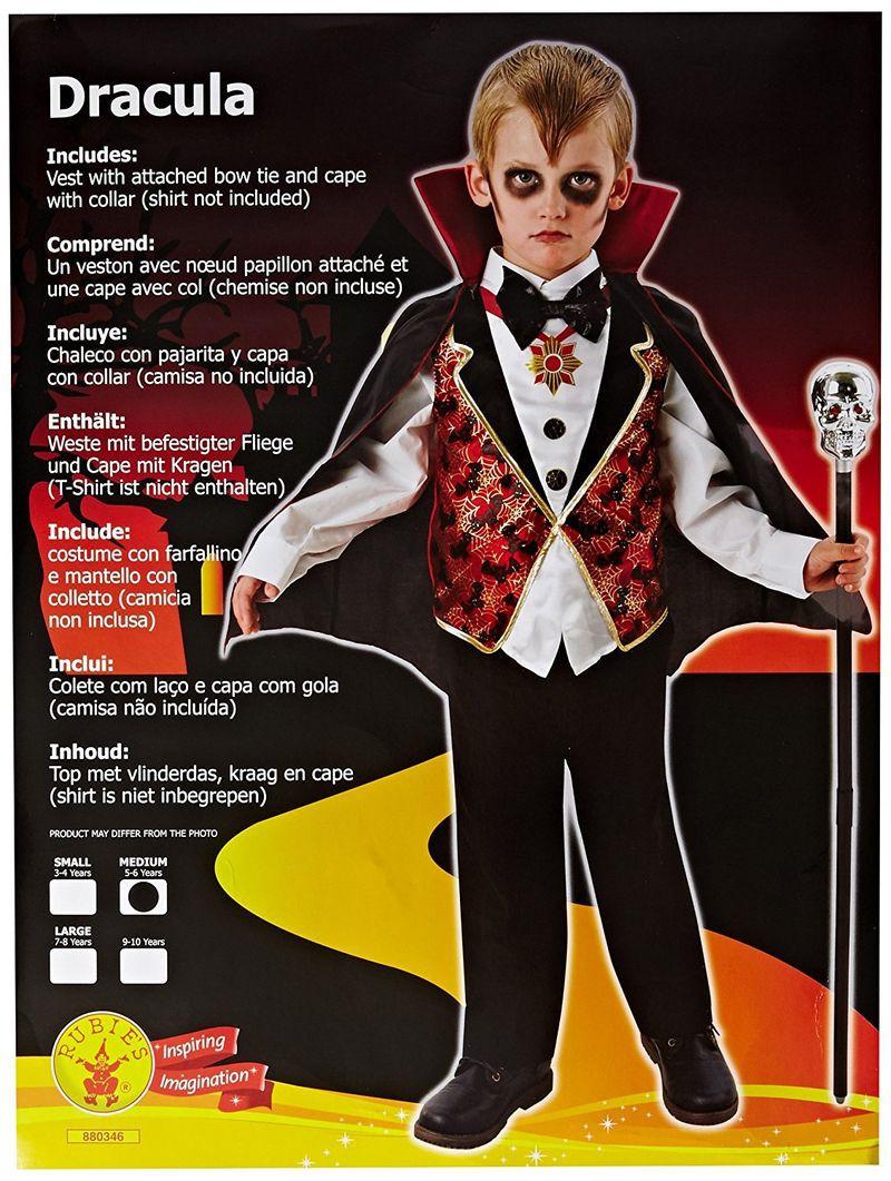 RUBIES Drakulos kostiumas, S dydis