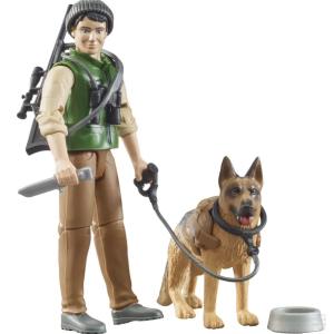 Bruder figūrėlė žmogeliukas Miškininkas su šunimi ir įranga