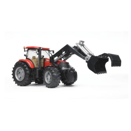 BRUDER traktorius CASE CVX 230, 03190 su frontaliniu kaušu,  03333 Komplektas