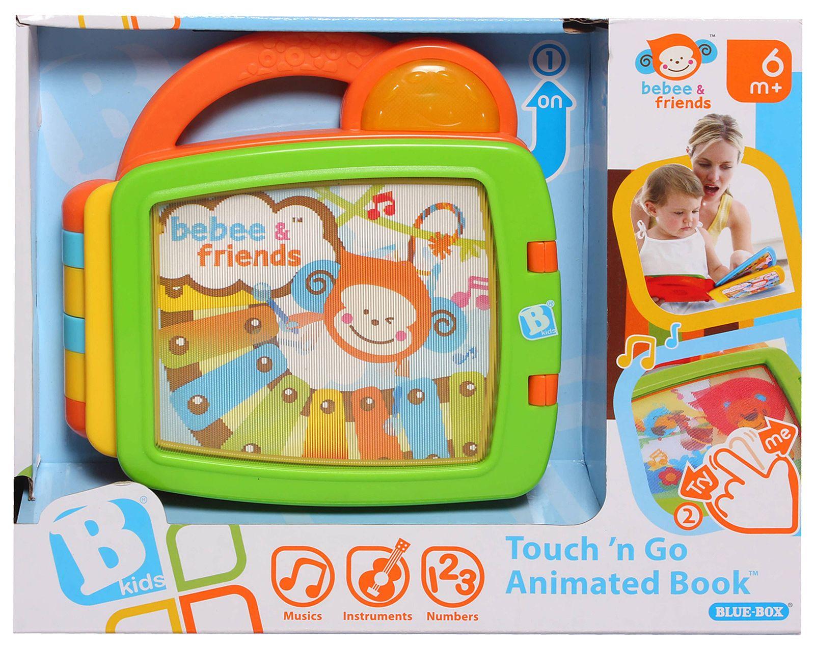 Muzikinė knygutė kūdikiams lavinamasis žaislas  Touch N Go Animated Book