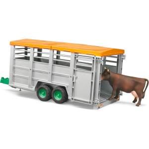 BRUDER Gyvulių priekaba su karve, 02227
