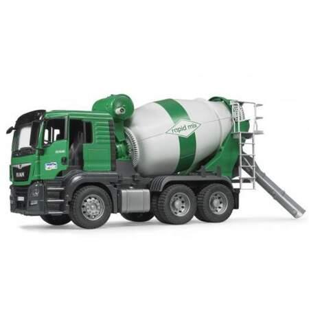 BRUDER Betonvežis MAN TGS 26.500 cemento maišytuvas su uždara vairuotojo kabina, 03710