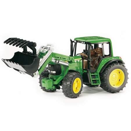 BRUDER JOHN DEERE 6920 Traktoriukas su priekiniu kaušu, 02052