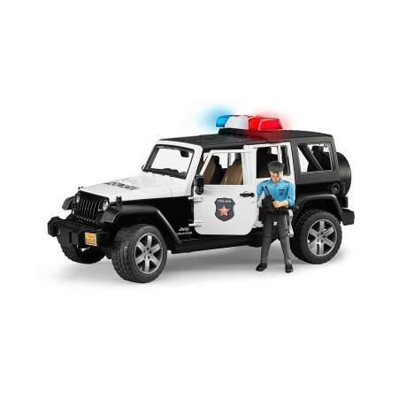 BRUDER policijos automobilis su policijos pareigūno figurėle policininko džipas, 02526