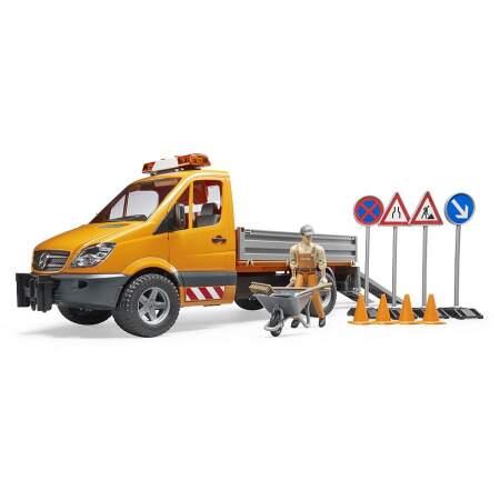 BRUDER kelio remonto automobilis MB Sprinter Municipal Vehicle 02537 komunalinė transporto priemonė, 02537