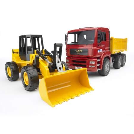 BRUDER savivartis sunkvežimis ir traktorius su krautuvu, 02752
