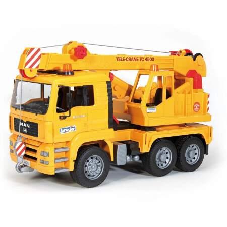BRUDER MAN Kranas BRUDER sunkvežimis auto su kranu Numatomas pristatymas nuo 25.10.21, 02754