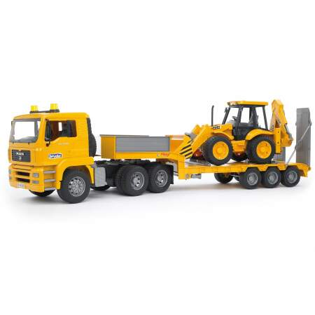 BRUDER sunkvežimis BRUDER MAN TGA su traktoriumi JCB 4CX backhoe, 02776