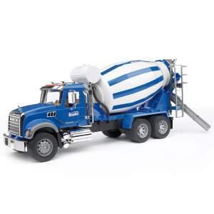 BRUDER betono maišyklė žaislinė mašina cementovežis su pusiauautomatine maišykle betonmaišyklė betonvežis, 02814