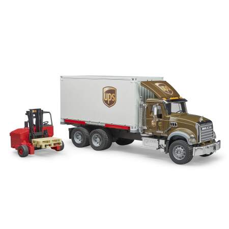 BRUDER siuntų fūra Mack Granite UPS Logistikos automobilis sunkvežimis, 02828