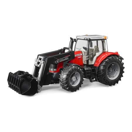 BRUDER traktorius Massey Ferguson 7624 su priekiniu krautuvu, 03047