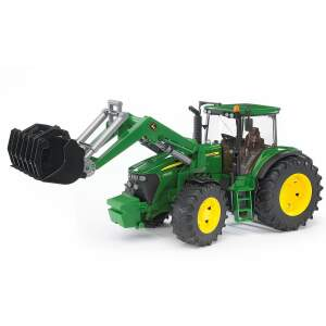 Traktorius BRUDER žaislinis mini traktorius John Deere 7930 su priekiniu kaušu, 03051