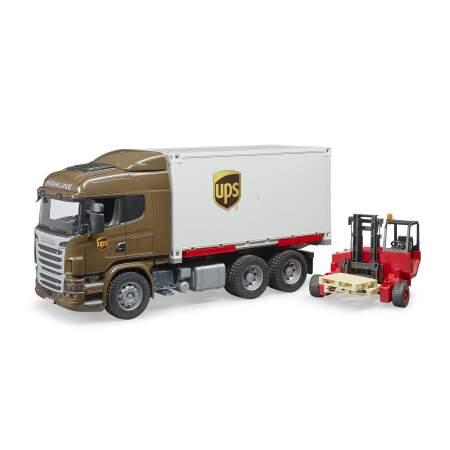 BRUDER fūra Scania R serijos UPS logistikos sunkvežimis, 03581