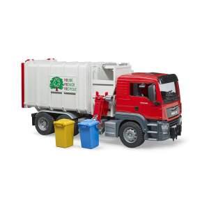BRUDER šiukšliavežė šiukšlių vežimo mašina MAN TGS Seitenlader, savivartis, šiukšlinė, 03761