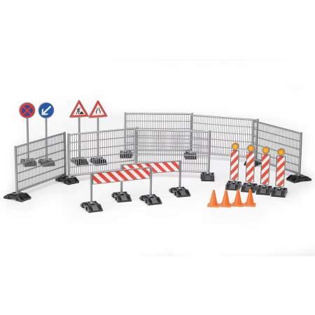 BRUDER Gatvės ženklų priedai tvora ir kelio ženklai, 62007