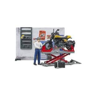 """Bruder motociklas  """"bworld"""" motociklų dirbtuvės su """"Scrambler Ducati"""" 062102"""
