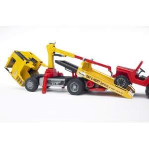 BRUDER sunkvežimis geltonas su raudonu džipu, 02750