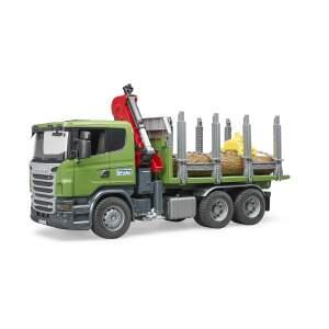 BRUDER sunkvežimis miškovežis Scania R su 3 rastais, 03524
