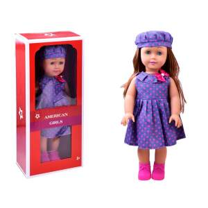 Didelė lėlė violetine suknele, 45cm