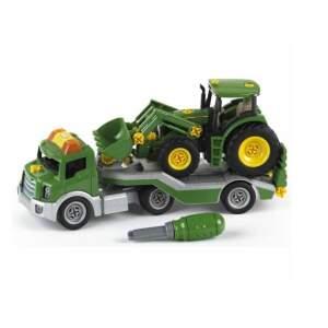 KLEIN John Deere mašina transporteris su John Deere traktorium ir priedais