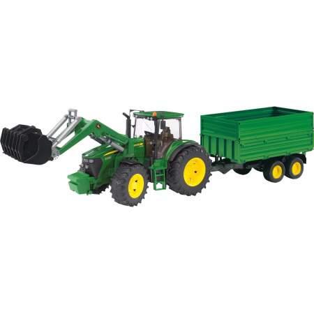 BRUDER JOHN DEERE 7930  traktoriukas su priekaba, 03055