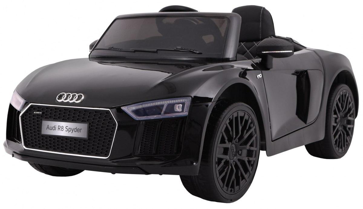 """Vaikiškas elektromobilis """"AUDI R8 Spyder"""" Juodas - Lakuotas"""
