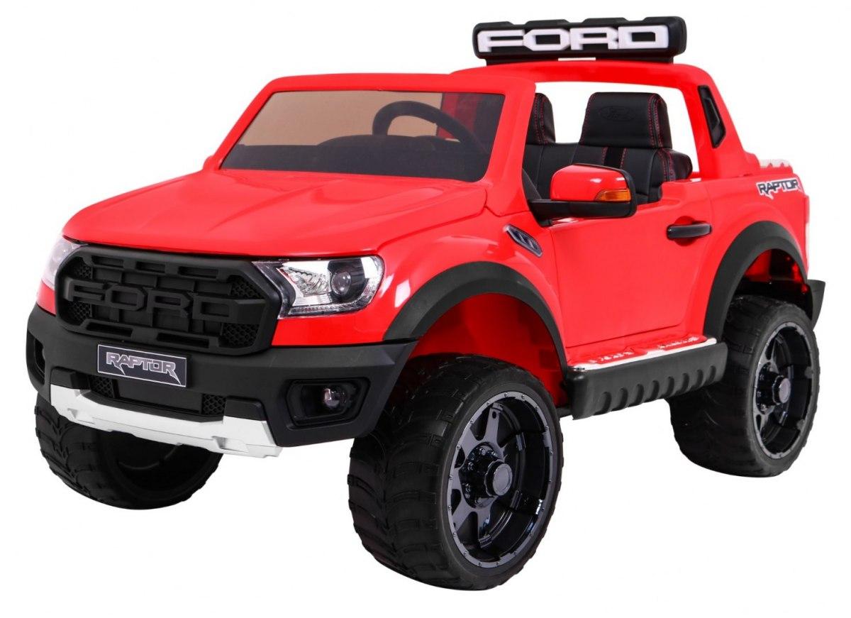"""Vaikiškas elektromobilis """"Ford Ranger Raptor"""" Raudonas"""