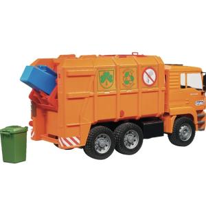 BRUDER šiukšlių vežimo mašina oranžinė, 02760