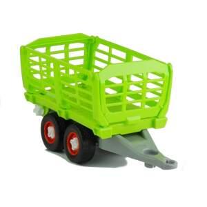 Traktorius su priekaba ir atsuktuvu